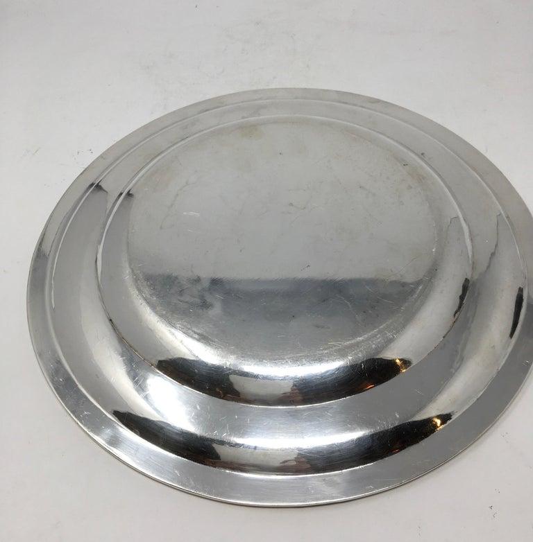 Vintage Hotel Silver Serving Platter For Sale 2