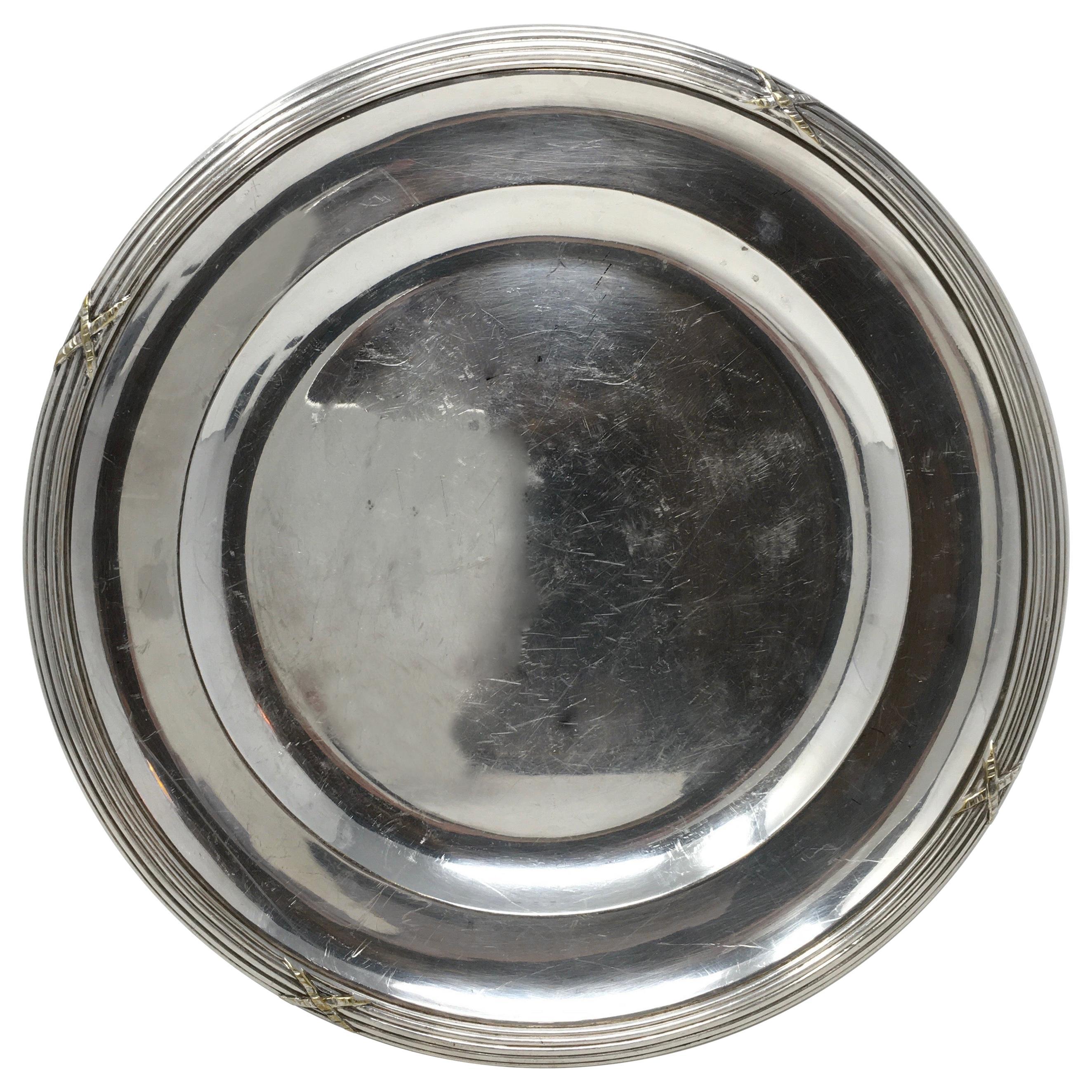 Vintage Hotel Silver Serving Platter