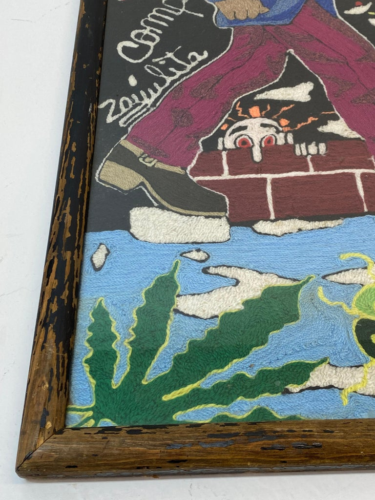 Folk Art Vintage Huichol Psychedelic Nierikas