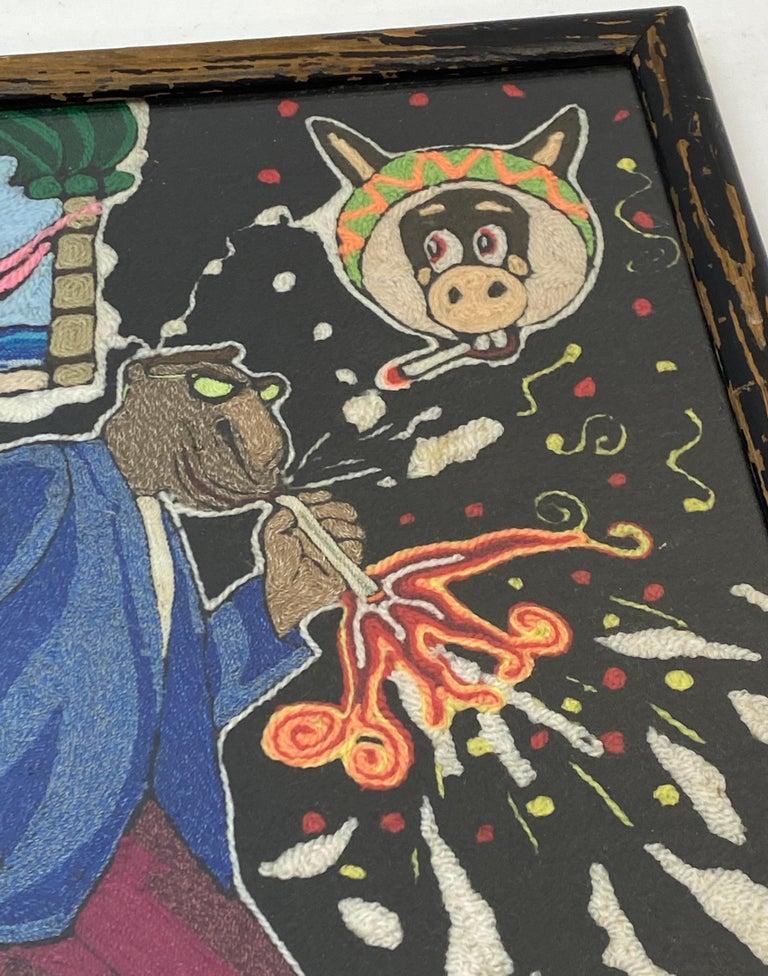 Hand-Crafted Vintage Huichol Psychedelic Nierikas