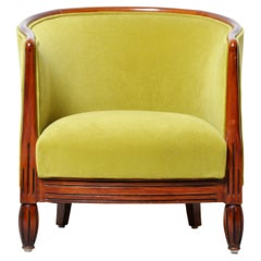 Vintage Hungarian Art Deco Round Back Chair