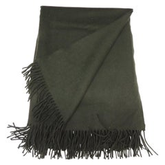 Vintage Hunter Green Cashmere Decorative Throw
