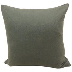 Vintage Hunter Green Wool Square Decorative Pillow