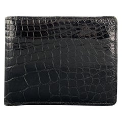 Vintage I by SCHELSINGER BROTHERS Textured / Embossed Black Leather Bifold Walle