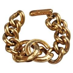 Vintage Iconic 1994 CHANEL CC Logo Chain Bracelet