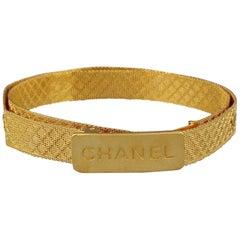 Vintage Iconic CHANEL CC Logo Mesh Belt
