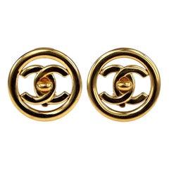 Vintage Iconic CHANEL Turnlock Openwork Earrings