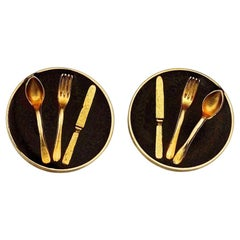Vintage Iconic MOSCHINO Cutlery Earrings