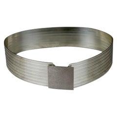 Vintage Iconic PACO RABANNE Space Age Rigid Metal Wide Belt