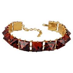 Vintage Iconic YVES SAINT LAURENT Ysl Leopard Pyramid Necklace