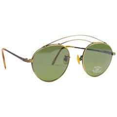 Vintage IDC Lunettes Copper Lens 1980's Sunglasses France