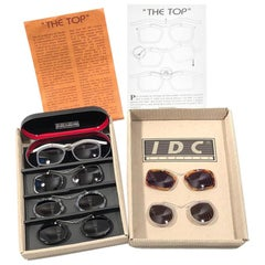 Vintage IDC Lunettes The Top 0012 Full Set 1980's Sunglasses Made in France