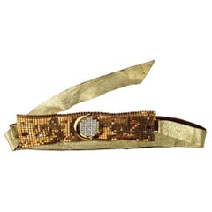 Vintage IDEMARIA Jewelled Mesh Gold Belt - Owned by LIZA MINNELLI (documented)