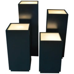 Vintage Illuminated Display Pedestals by Albright and Zimmerman, ca. 1984