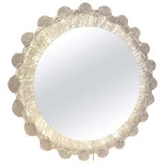 Vintage Illuminated Lucite Droplet Wall Mirror, c.1970