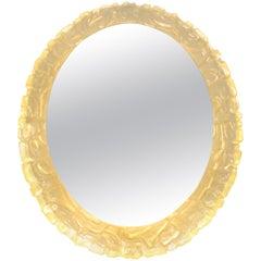 Vintage Illuminated Oval Mirror, 1960s