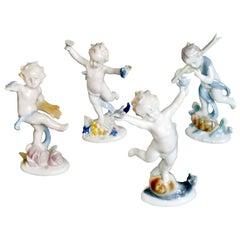 Vintage Ilmenau German Porcelain Figurines