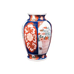 Vintage Imari Vase, Japanese, Ceramic Baluster Urn, Late Art Deco, Circa 1940