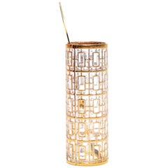 Vintage Imperial Glass Co. Shoji Cocktail Mixer 22-Karat Gold, 1960s