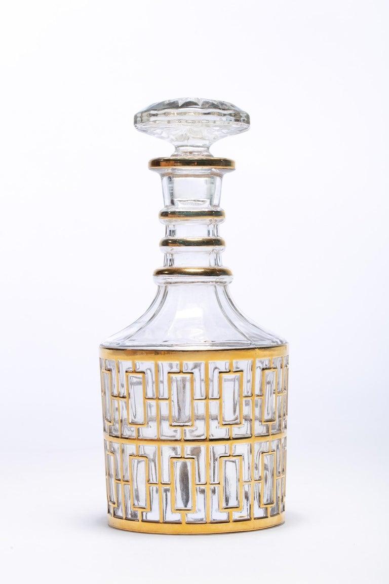 Vintage Imperial Glass Co. Shoji Decanter 22-Karat Gold, 1960s For Sale 4