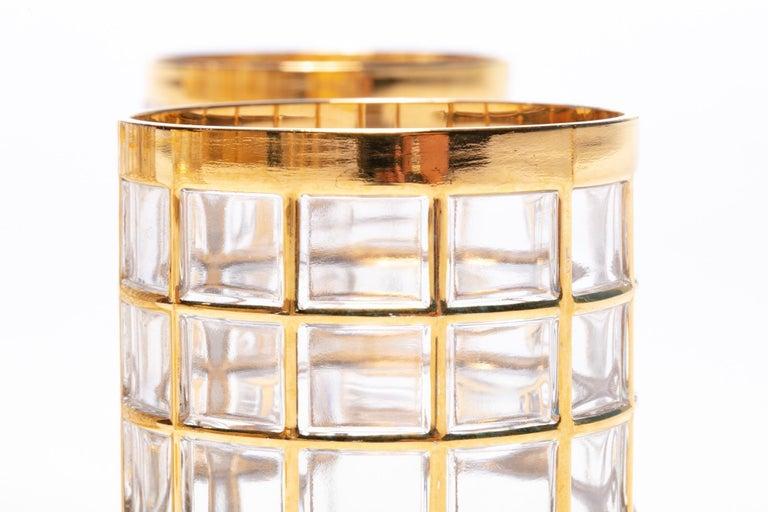 Vintage Imperial Glass Co. Shoji Decanter 22-Karat Gold, 1960s For Sale 5