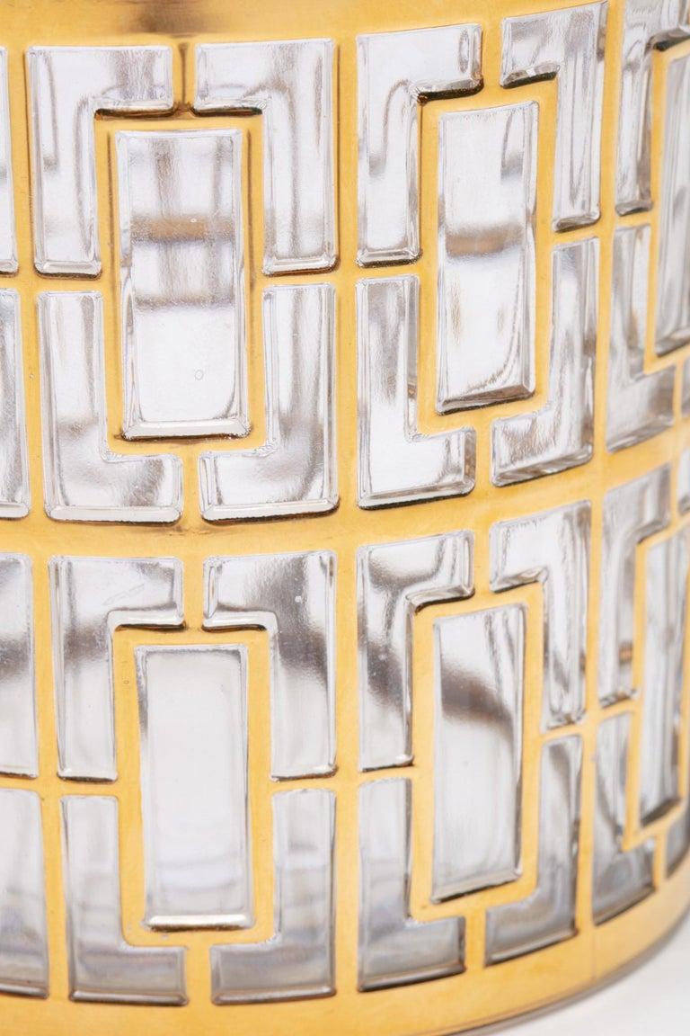 Hollywood Regency Vintage Imperial Glass Co. Shoji Decanter 22-Karat Gold, 1960s For Sale