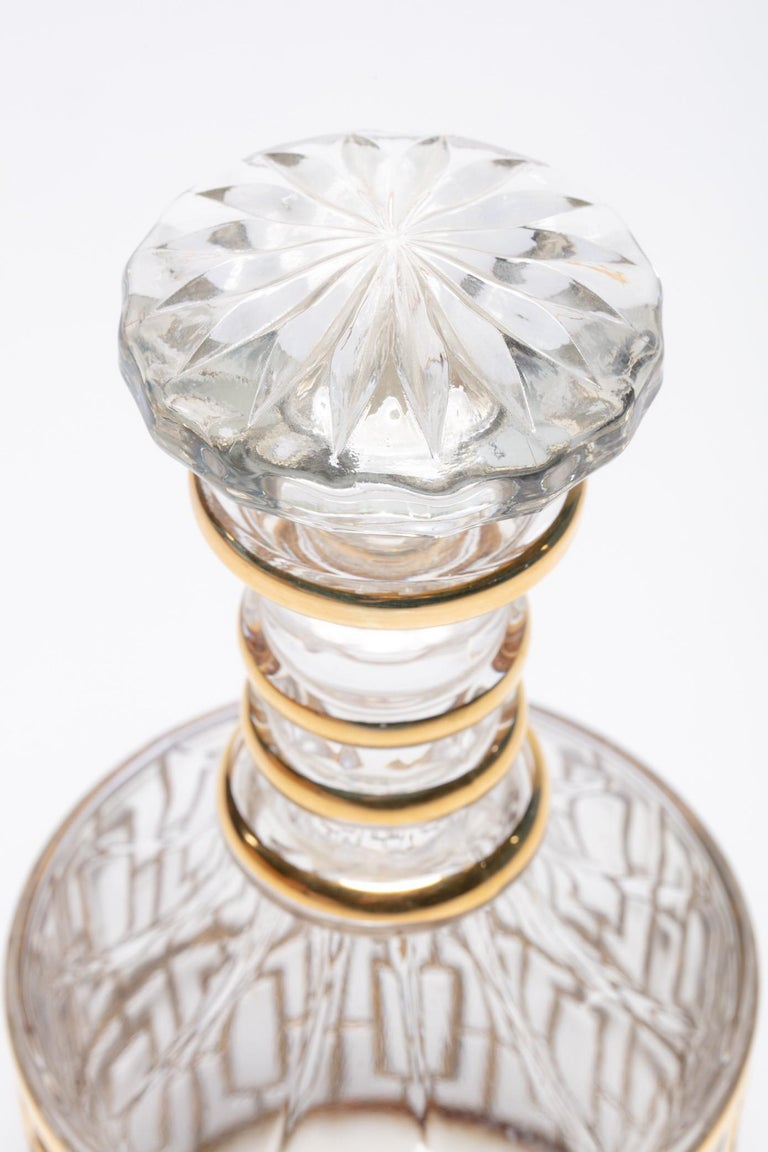 Vintage Imperial Glass Co. Shoji Decanter 22-Karat Gold, 1960s In Good Condition For Sale In Saint Louis, MO
