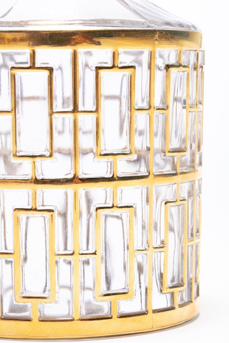 Mid-20th Century Vintage Imperial Glass Co. Shoji Decanter 22-Karat Gold, 1960s For Sale