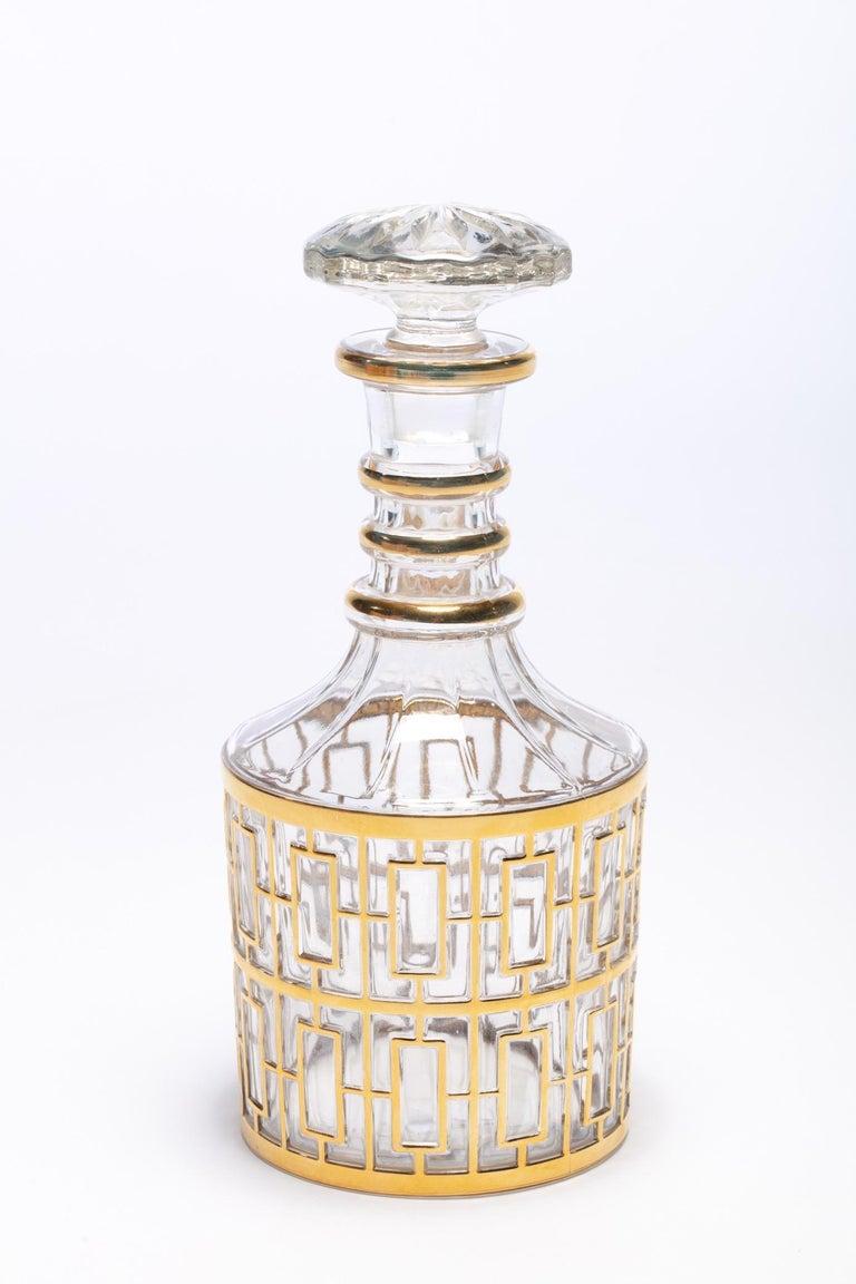Vintage Imperial Glass Co. Shoji Decanter 22-Karat Gold, 1960s For Sale 1