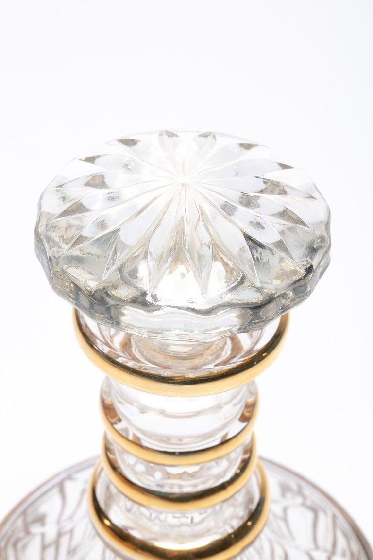 Vintage Imperial Glass Co. Shoji Decanter 22-Karat Gold, 1960s For Sale 2