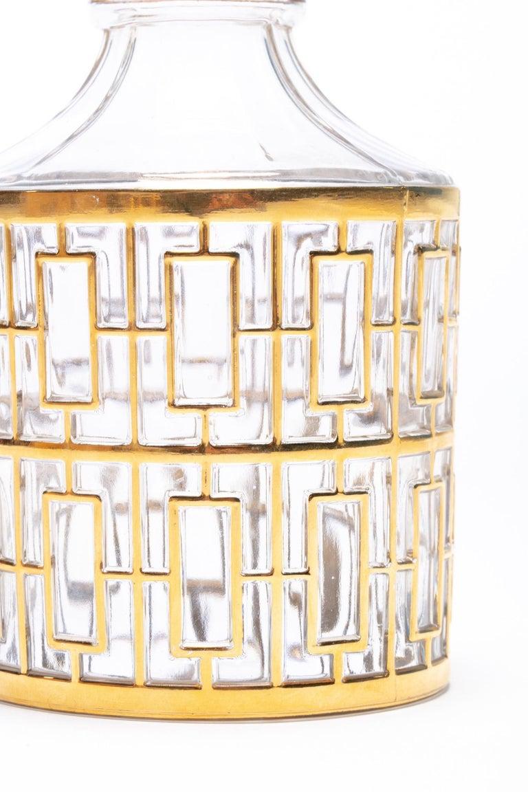 Vintage Imperial Glass Co. Shoji Decanter 22-Karat Gold, 1960s For Sale 3