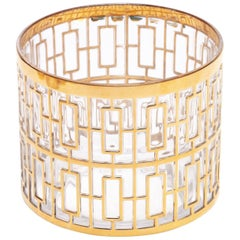 Vintage Imperial Glass Co. Shoji Ice Bowl 22-Karat Gold, 1960s