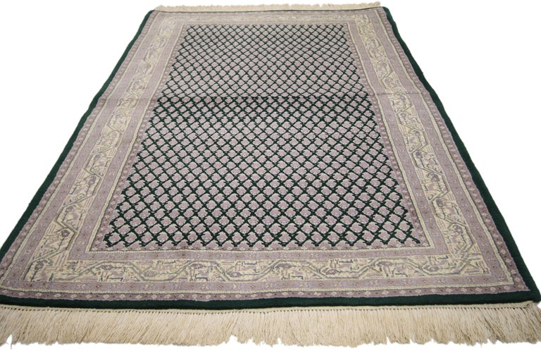 Vintage Indian Area Rug with Traditional Modern Style For Sale 1