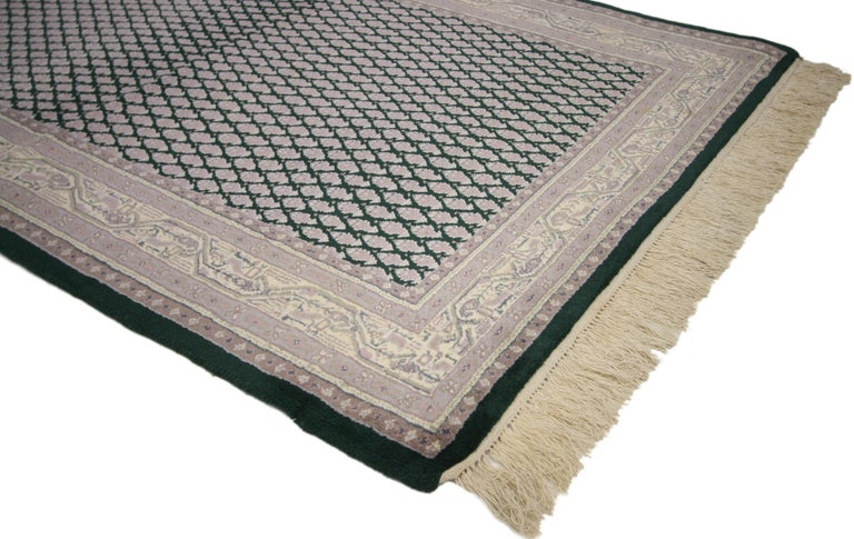 Vintage Indian Area Rug with Traditional Modern Style For Sale 2