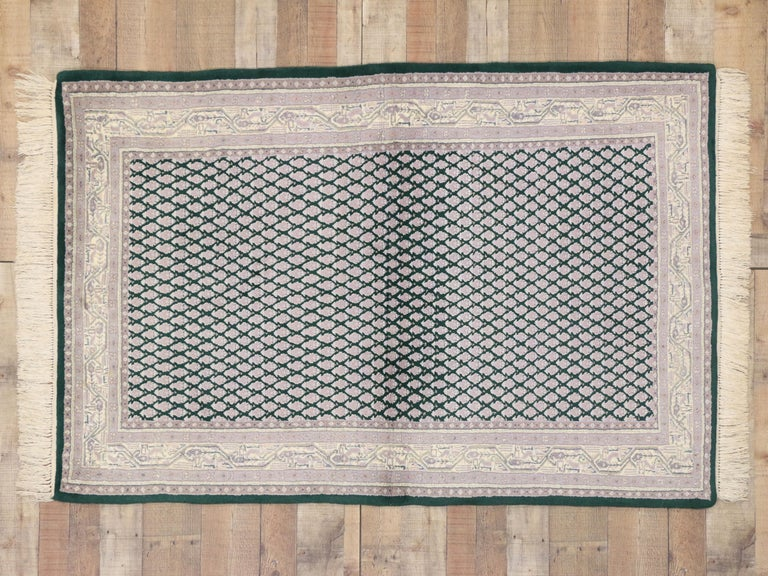 Vintage Indian Area Rug with Traditional Modern Style For Sale 3