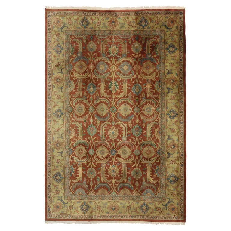 Vintage Indian Area Rug with Traditional Persian Style For Sale