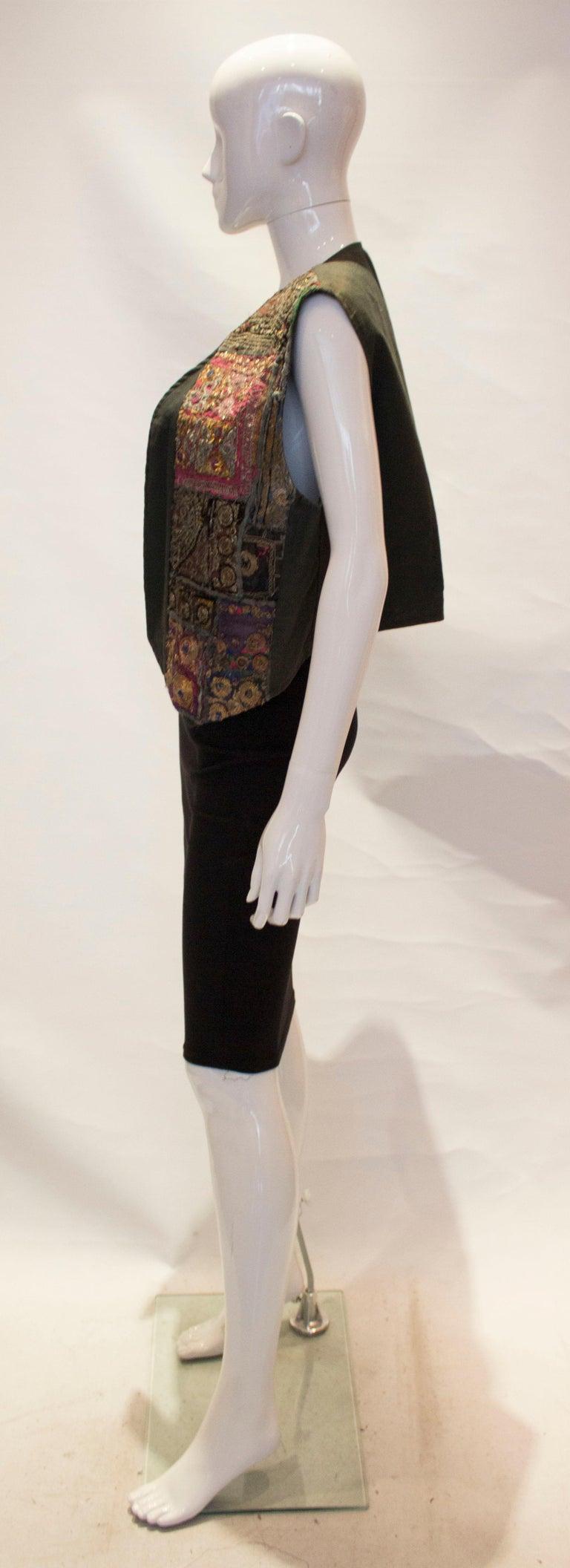 Women's Vintage Indian Boho Waistcoat For Sale
