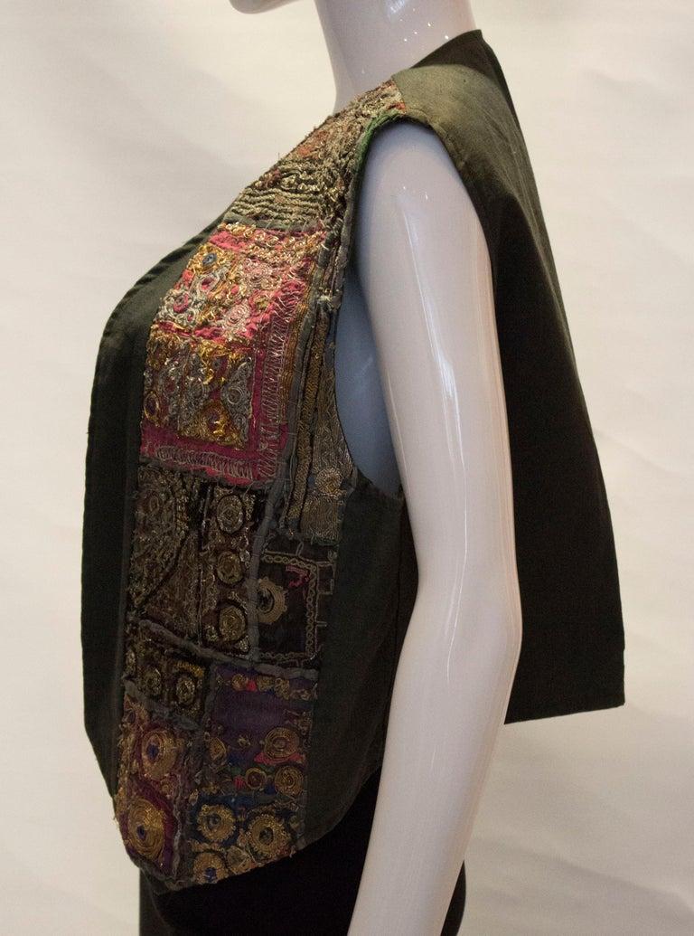 Vintage Indian Boho Waistcoat For Sale 1