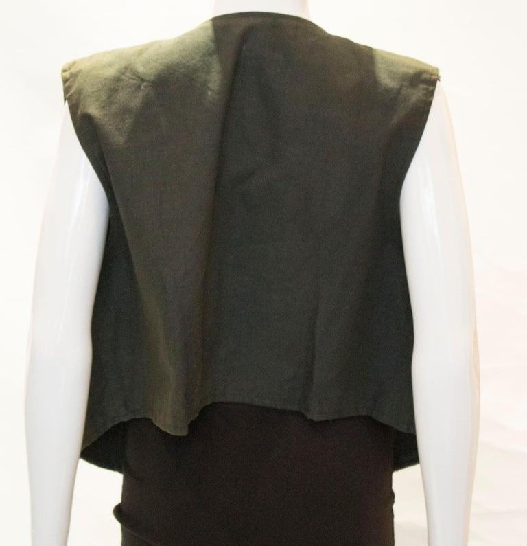 Vintage Indian Boho Waistcoat For Sale 3