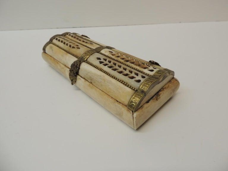 Moorish Vintage Indian Camel Bone Jewelry Box