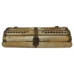 Vintage Indian Camel Bone Jewelry Box