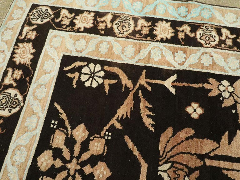 Wool Vintage Indian Cotton Agra Carpet For Sale