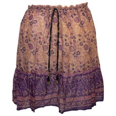 Vintage Indian Cotton Summer Skirt