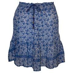 Vintage Indian Cotton Summer Skirt