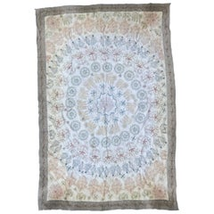 Vintage Indian Embroidered Tablecloth