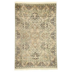 Vintage Indian Kashmir Rug with Art Nouveau Rococo Style