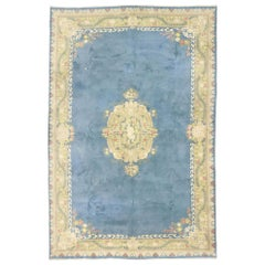 Vintage Indian Palace Rug with Romantic English Country Cottage Style