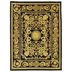Vintage Indian Rug with French Baroque Style