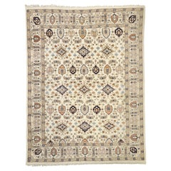 Vintage Indian Rug with Transitional William and Mary Style