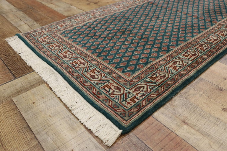 Wool Vintage Indian Runner with Old World Victorian Style For Sale